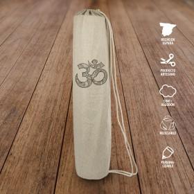 Bolsa lino para esterilla yoga Om
