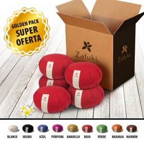 Pack 5 Zafus redondos DESENFUNDABLES
